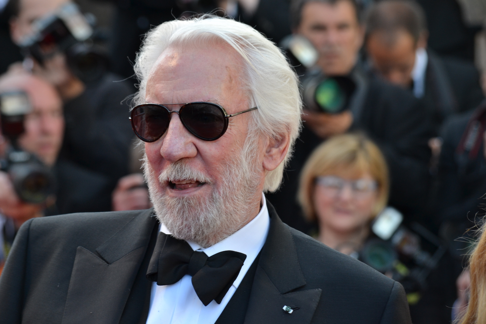 Cannes 2016: Donald Sutherland sul red carpet di The last Face
