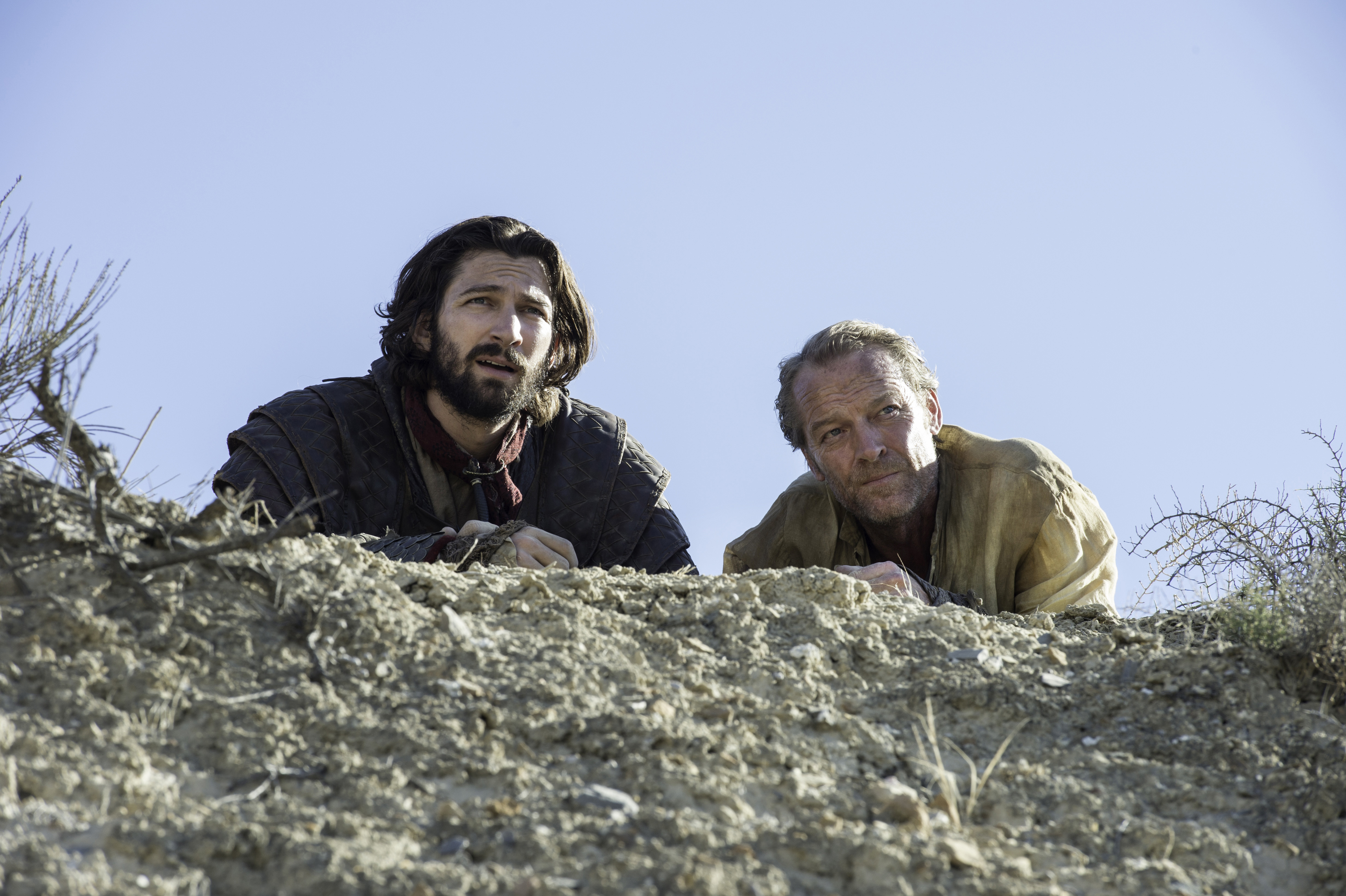 Il trono di spade: Daario e Jorah nell'episodio Book of the Stranger
