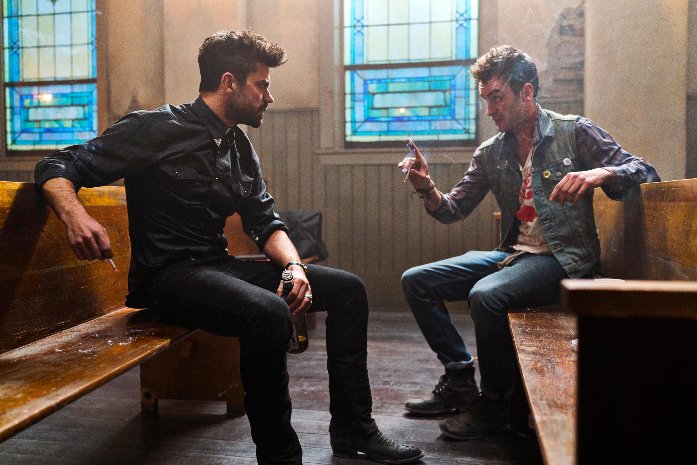 Preacher: Dominic Cooper e Joseph Gilgun in un'immagine del pilot