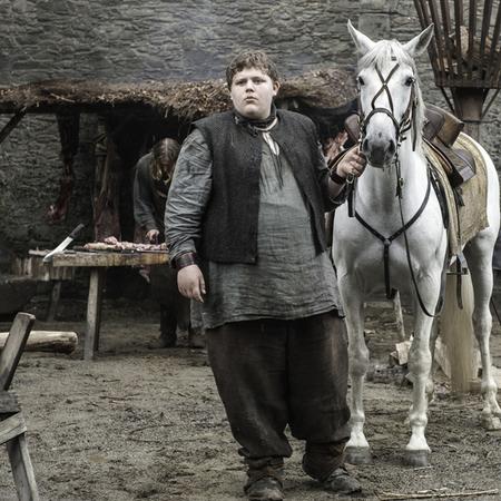 Il trono di spade: Hodor da ragazzino nell'episodio The Door