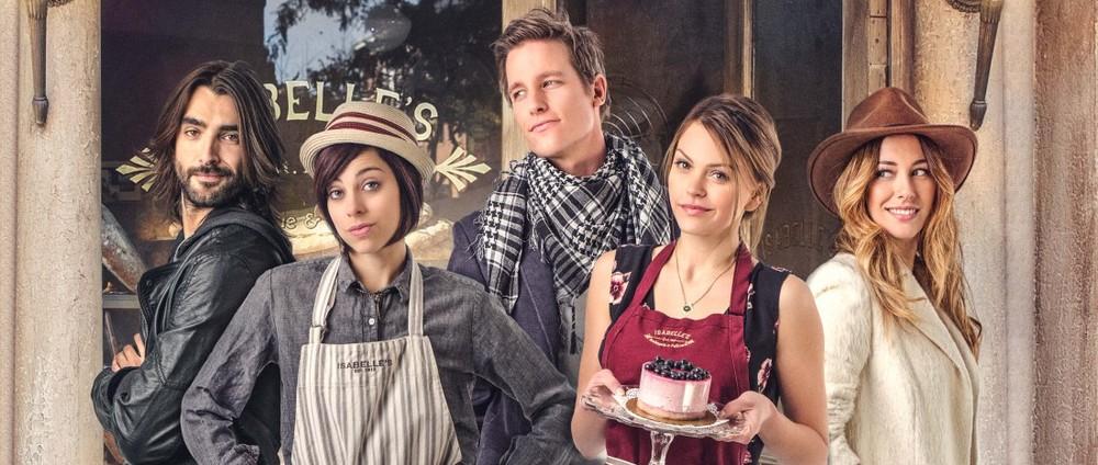 My Bakery in Brooklyn - Un pasticcio in cucina: Blanca Suárez, Aimee Teegarden, Ward Horton e Krysta Rodriguez in un'immagine promozionale del film