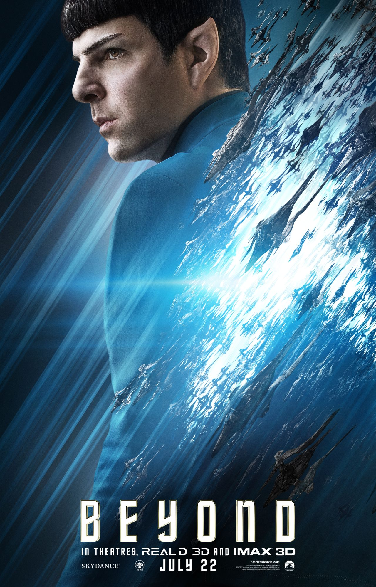 Star Trek Beyond: il character poster di Zachary Quinto