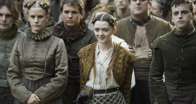 Il Trono di Spade: Maisie Williams nell'episodio Blood of My Blood