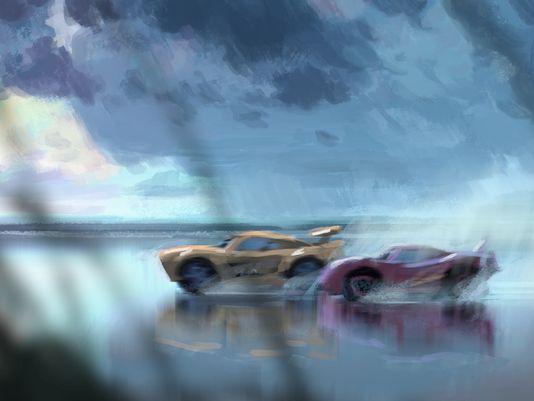 Cars 3: un concept art del film
