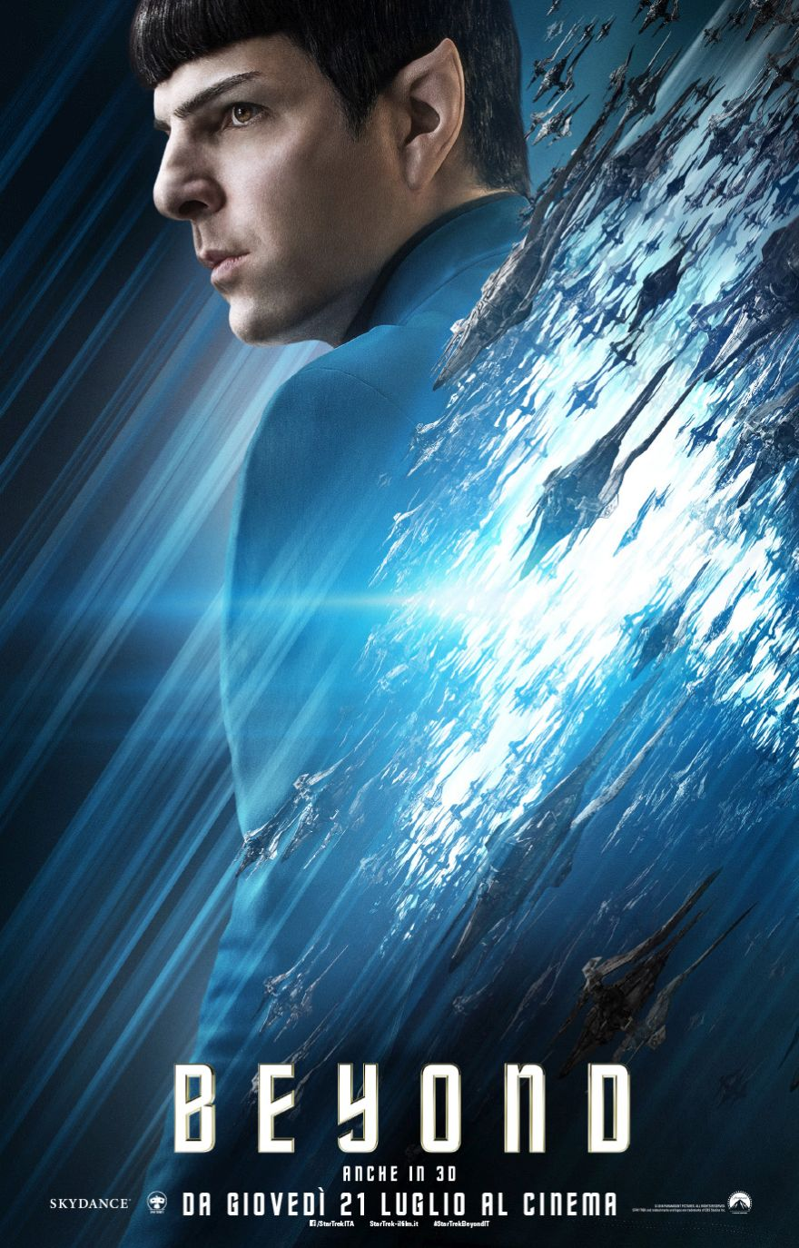 Star Trek Beyond: il character poster italiano di Zachary Quinto