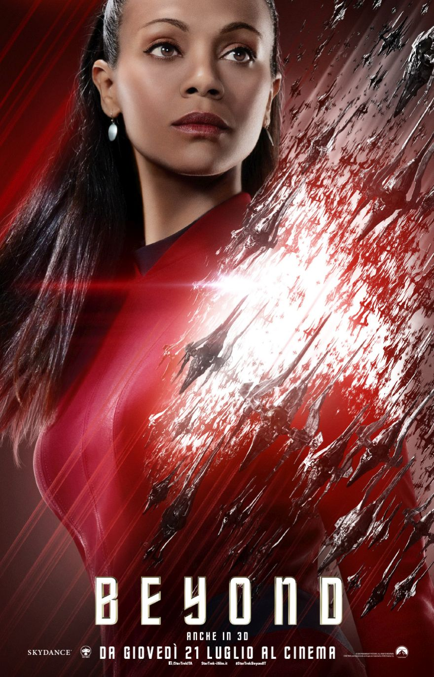 Star Trek Beyond: il character poster italiano di Uhura