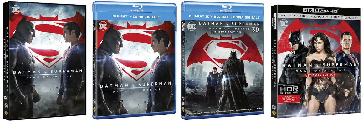 Le cover homevideo di Batman v Superman