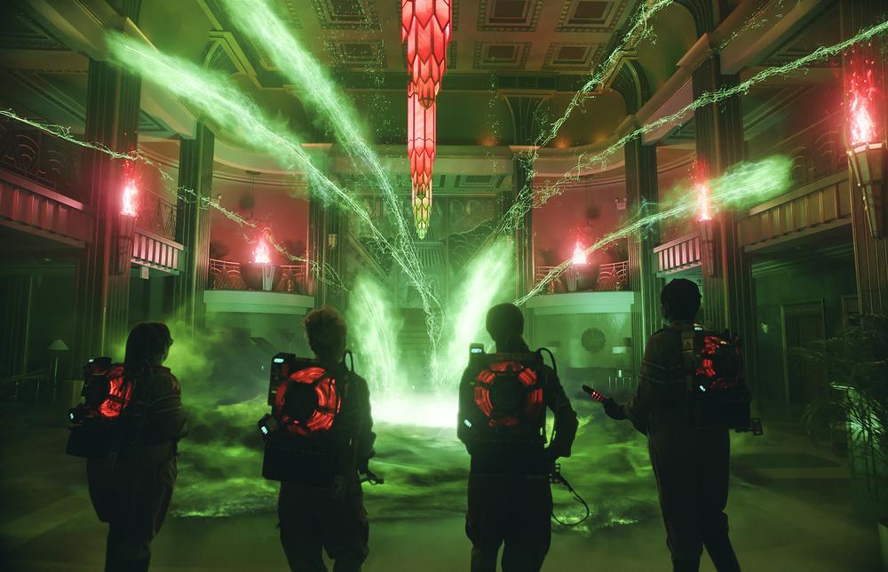 Ghostbusters: un momento d'azione del film