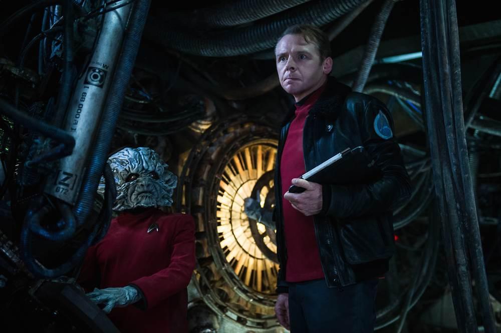 Star Trek Beyond: Simon Pegg in un momento del film