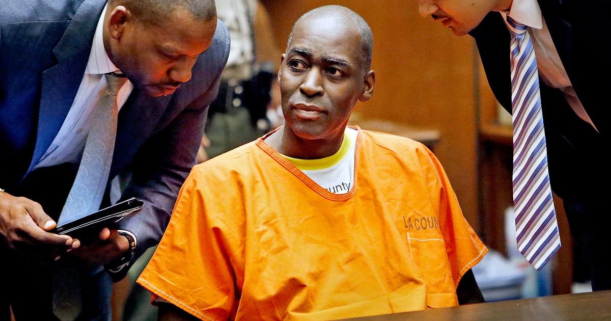L'attore Michael Jace durante il processo per omicidio, 2016
