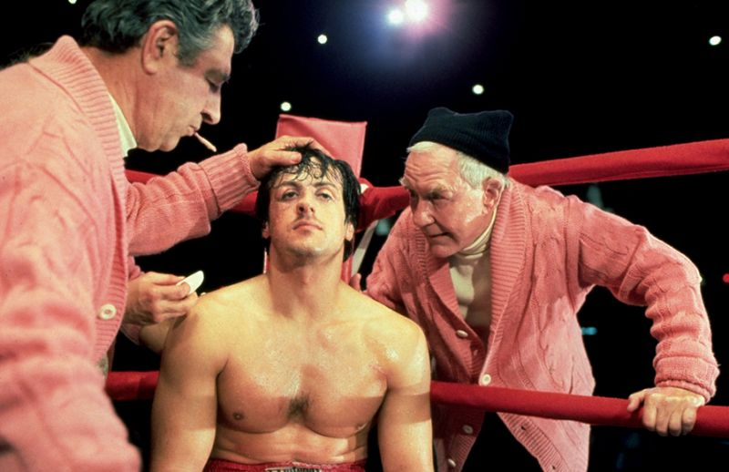 Rocky: Sylvester Stallone e Burgess Meredith sul ring