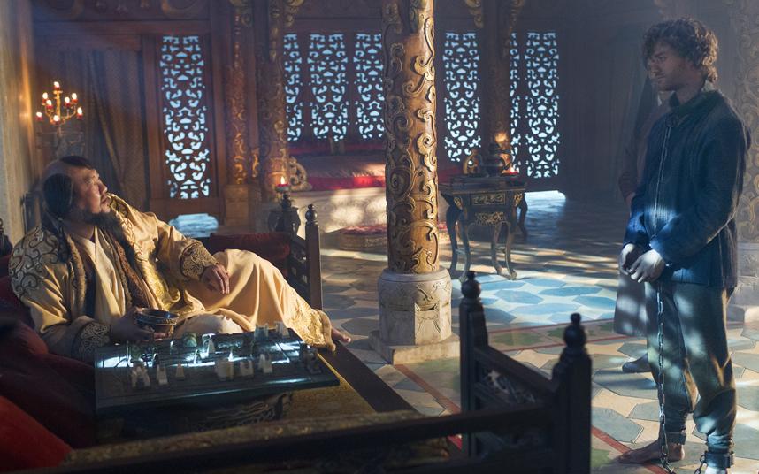 Marco Polo: Lorenzo Richelmy durante un momento della serie