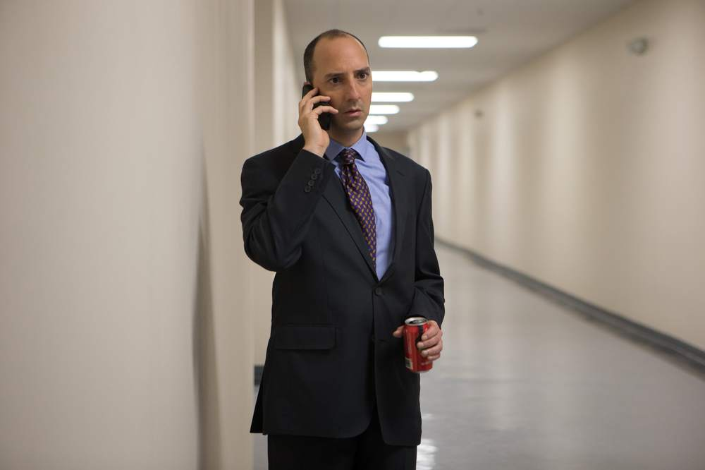 American Ultra: Tony Hale in una scena del film