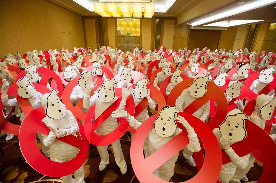 Ghostbusters: uno scatto dell'evento organizzato a Singapore
