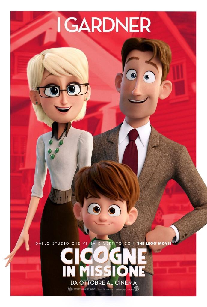 Cicogne in missione: il character poster della famiglia Gardner