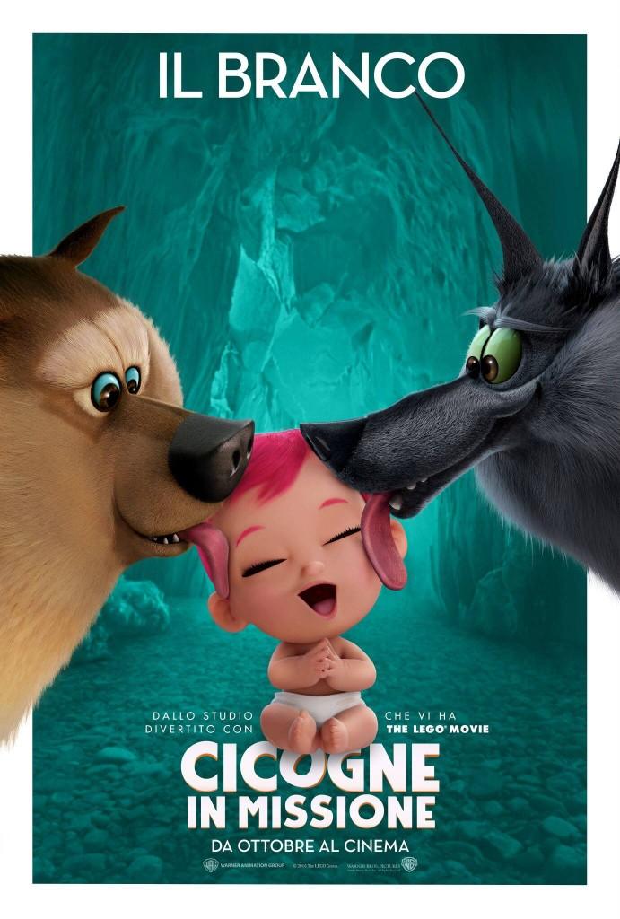 Cicogne in missione: un character poster del film dedicato ai due lupi