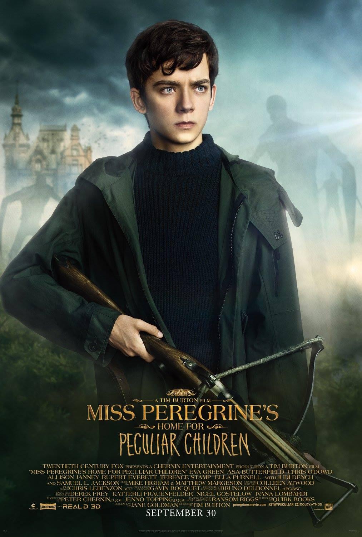 La casa per bambini speciali di Miss Peregrine: il character poster di Asa Butterfield
