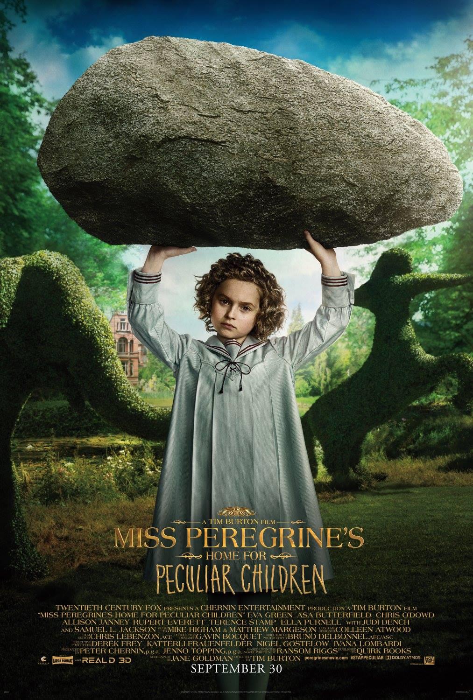 La casa per bambini speciali di Miss Peregrine: uno dei carachter poster del film