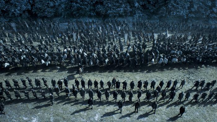 Il Trono di Spade: i due schieramenti nell'episodio Battle of the Bastards