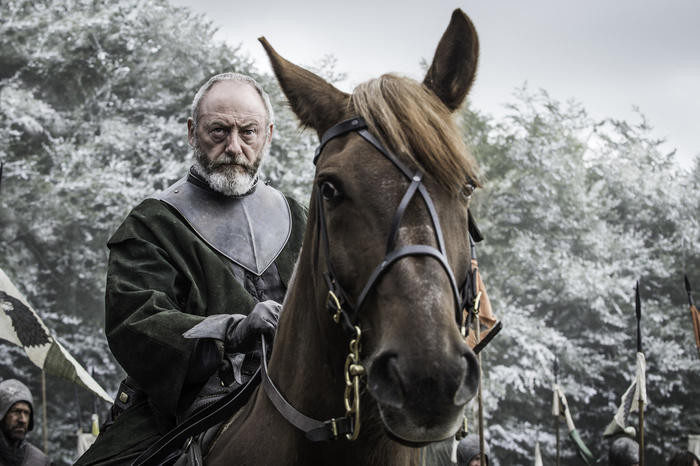 Il Trono di Spade: l'attore Liam Cunningham interpreta Davos in Battle of the Bastards