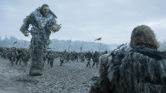 Il Trono di Spade: una scena della battaglia nell'episodio Battle of the Bastards