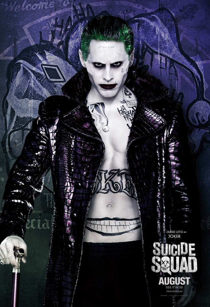 Suicide Squad: il character poster di Jared Leto