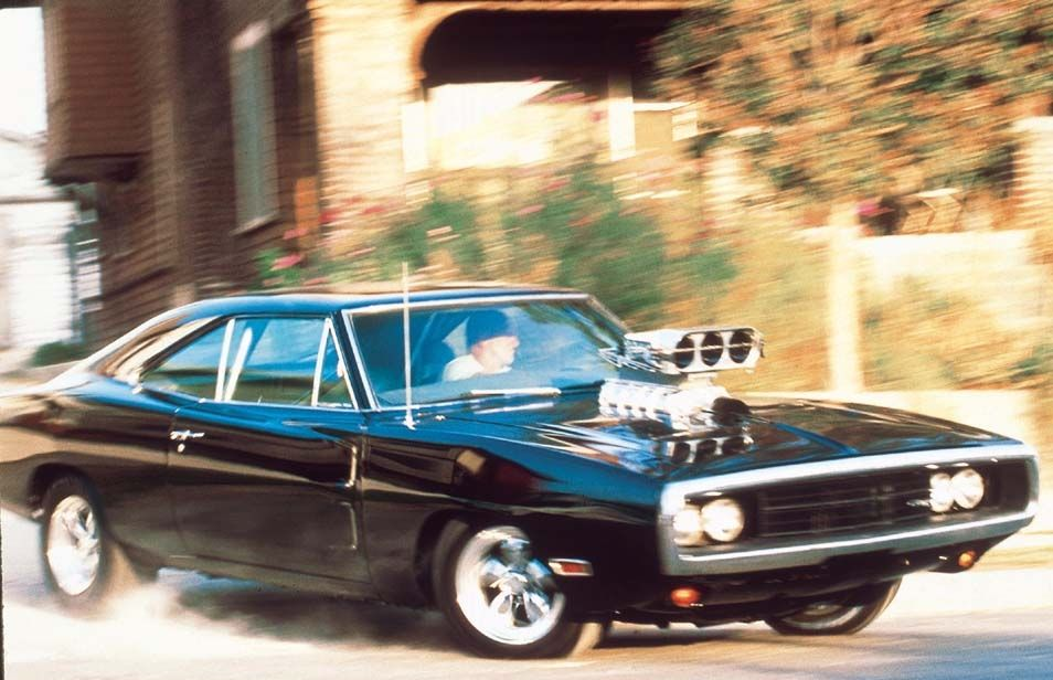 The Fast and the Furious: una scena d'azione del film