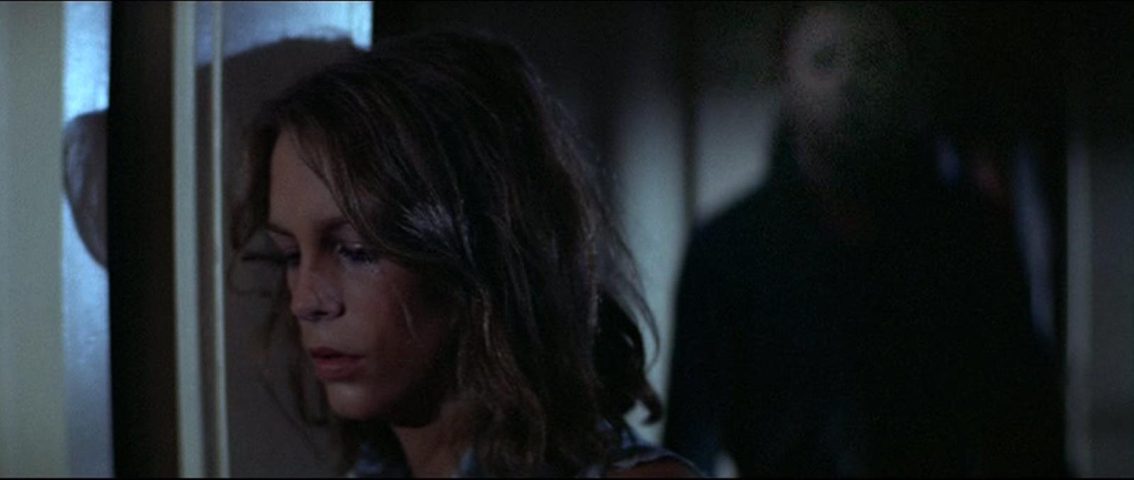Jamie Lee Curtis in Halloween di John Carpenter 1978