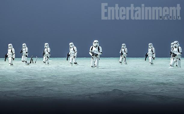 Rogue One: una foto che mostra gli stormtrooper