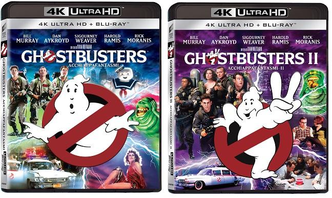 Le cover di Ghostbuster I e II in 4k
