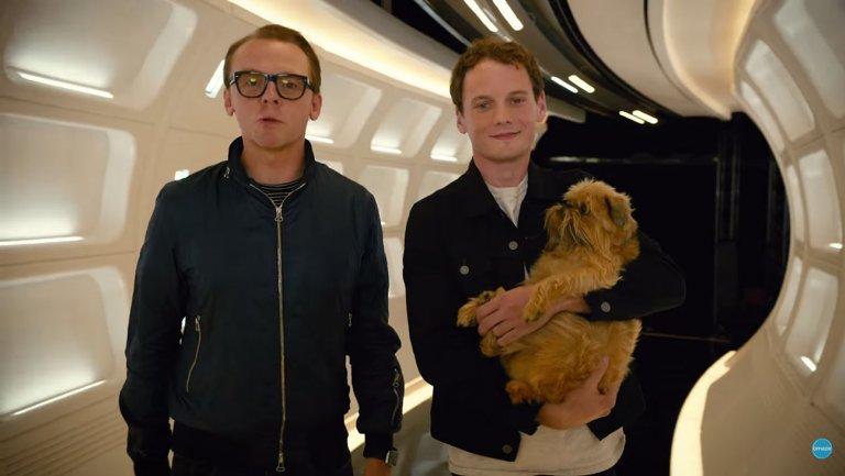 Star Trek Beyond: Simon Pegg e Anton Yelchin sul set promuovono la campagna benefica legata al film