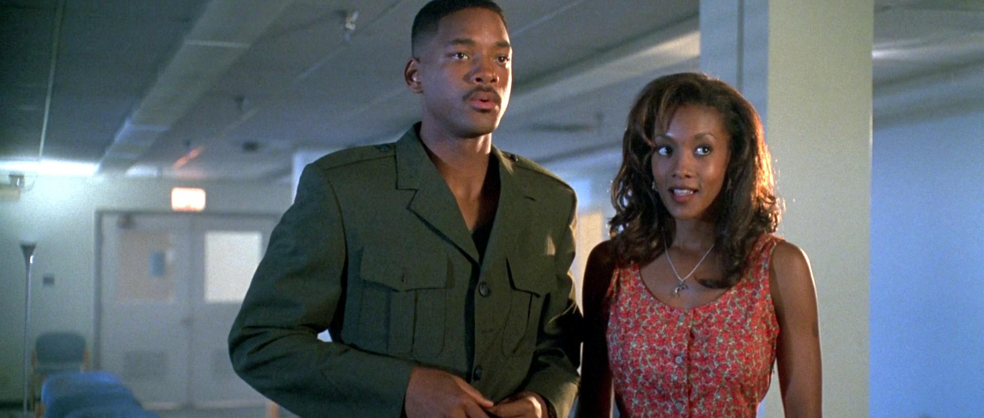 Independence Day: Vivica A. Fox e Will Smith in una scena del film