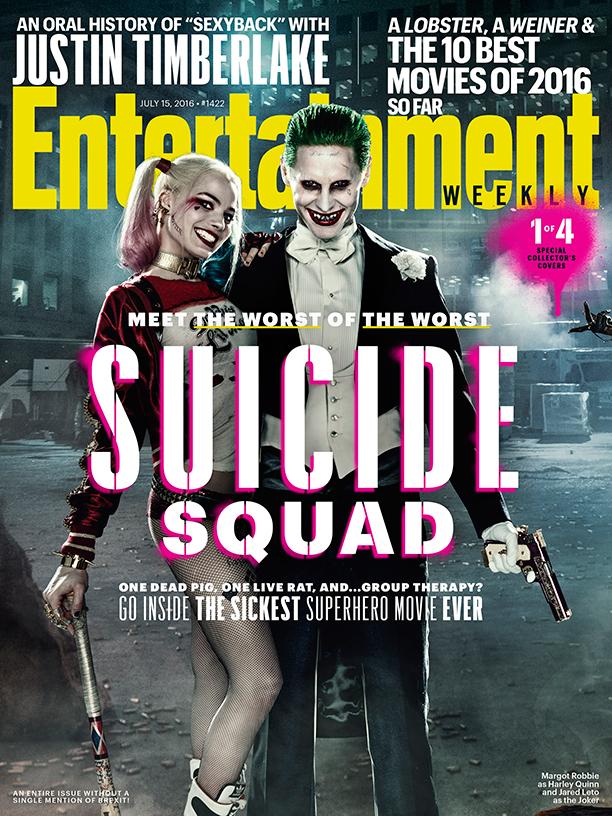 Suicide Squad: una delle quattro cover di Entertainment Weekly