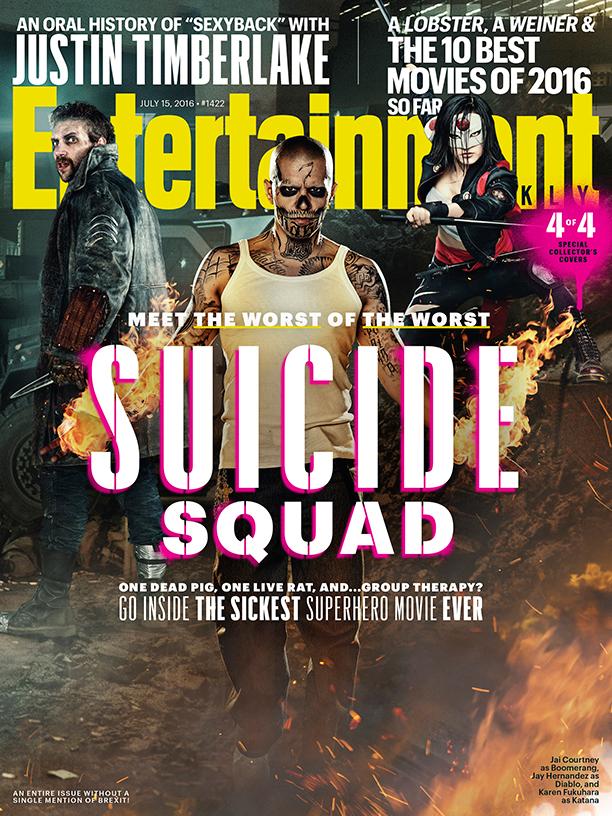Suicide Squad: una delle cover di Entertainment Weekly