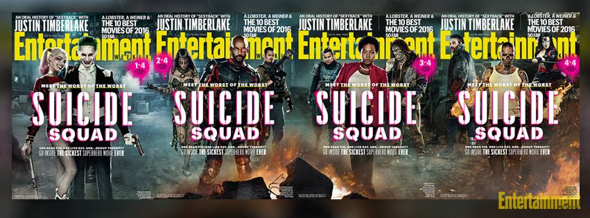 Suicide Squad: le cover di Entertainment Weekly