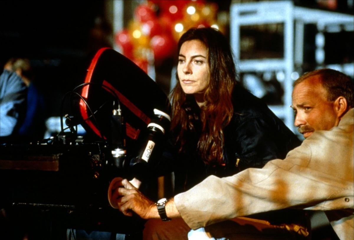 Kathryn Bigelow sul set di Strange Days