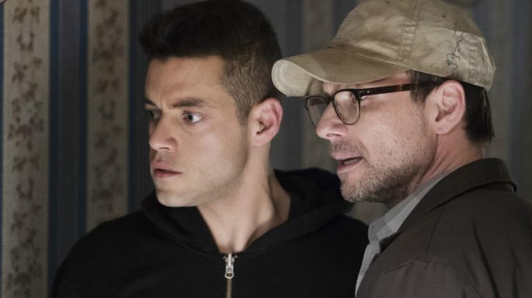 Mr. Robot: Rami Malek e Christian Slater in eps2.0_unm4sk.tc