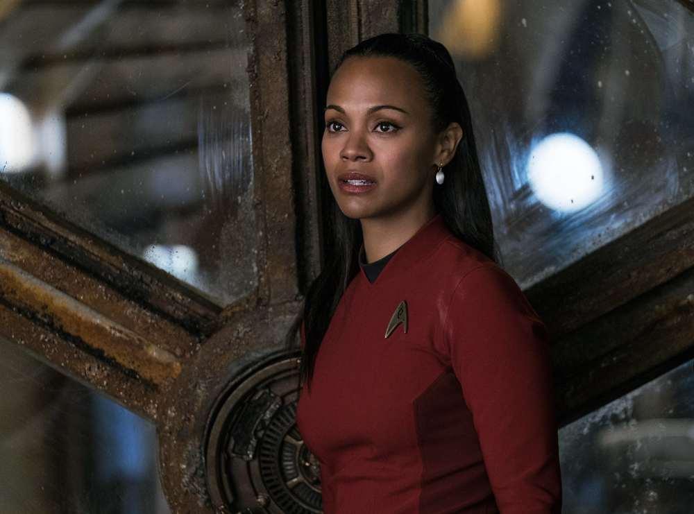 Star Trek Beyond: l'attrice Zoe Saldana in un'inquadratura del film di fantascienza