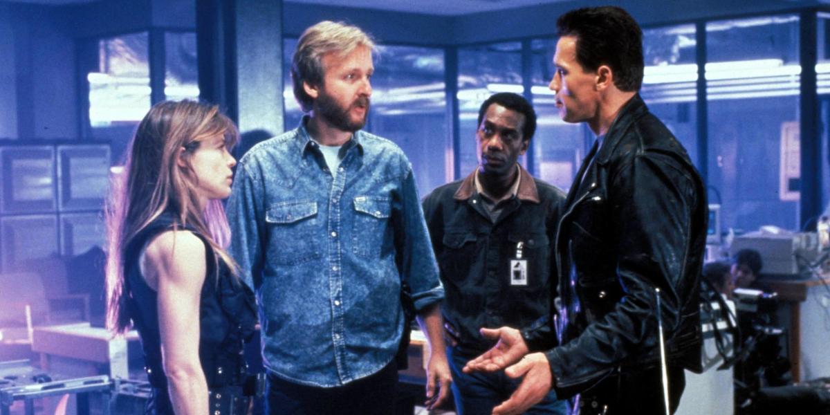 Terminator 2, una foto dal set