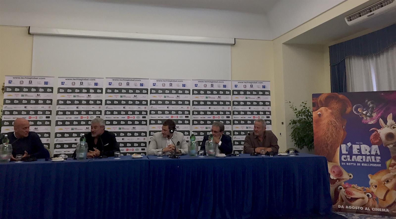 L'era glaciale - In rotta di collisione: Claudio Bisio, Pino Insegno, Lee Ryan, Massimo Giuliani e Marco Guadagno all'Ischia Global Fest