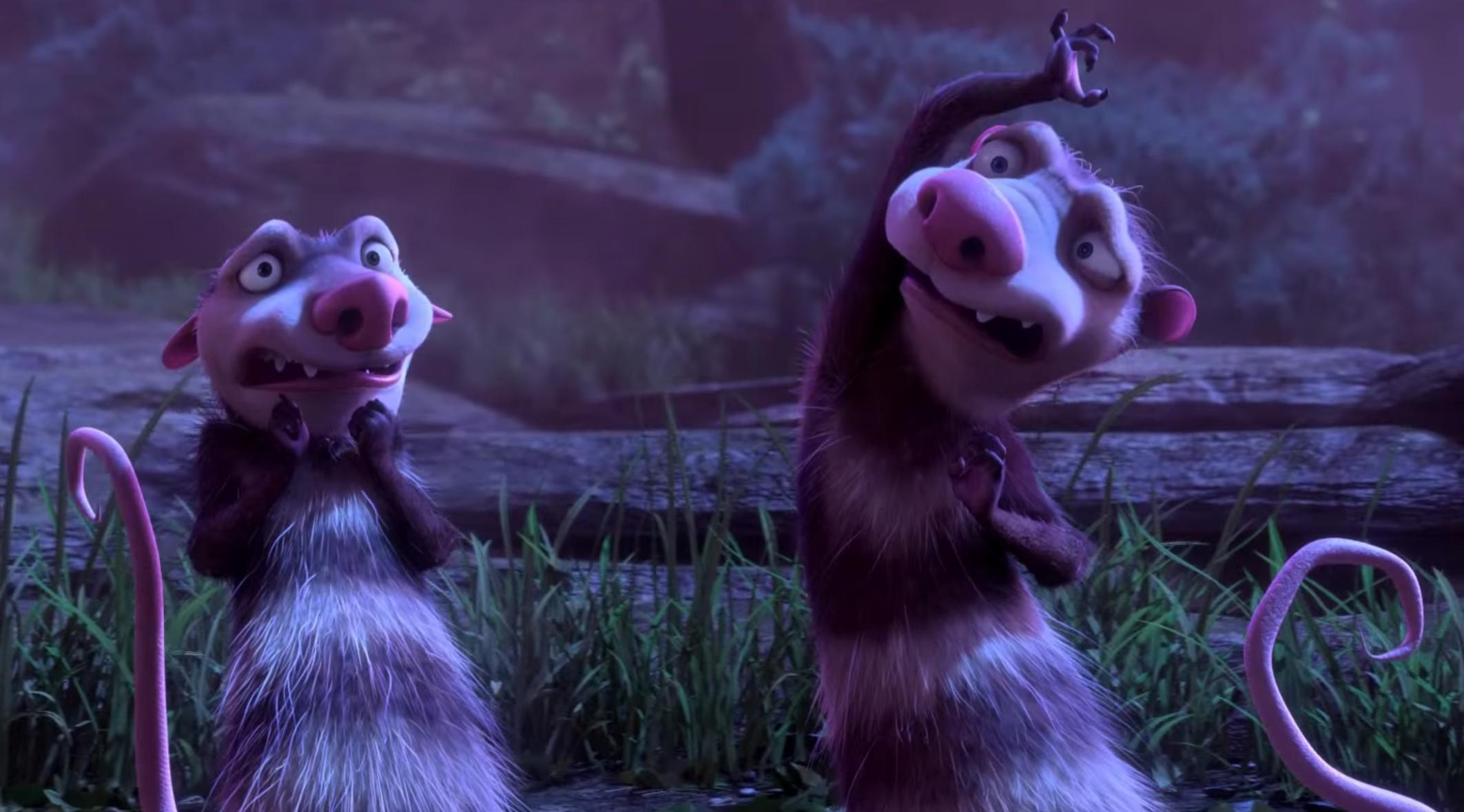 L'era glaciale 5:  i due simpatici opossum Crash e Eddie