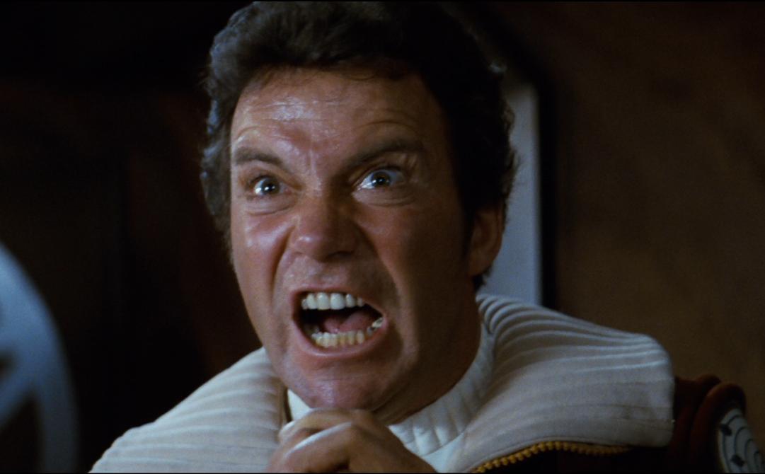Star Trek II: L'ira di Khan - William Shatner in una celebre immagine del film