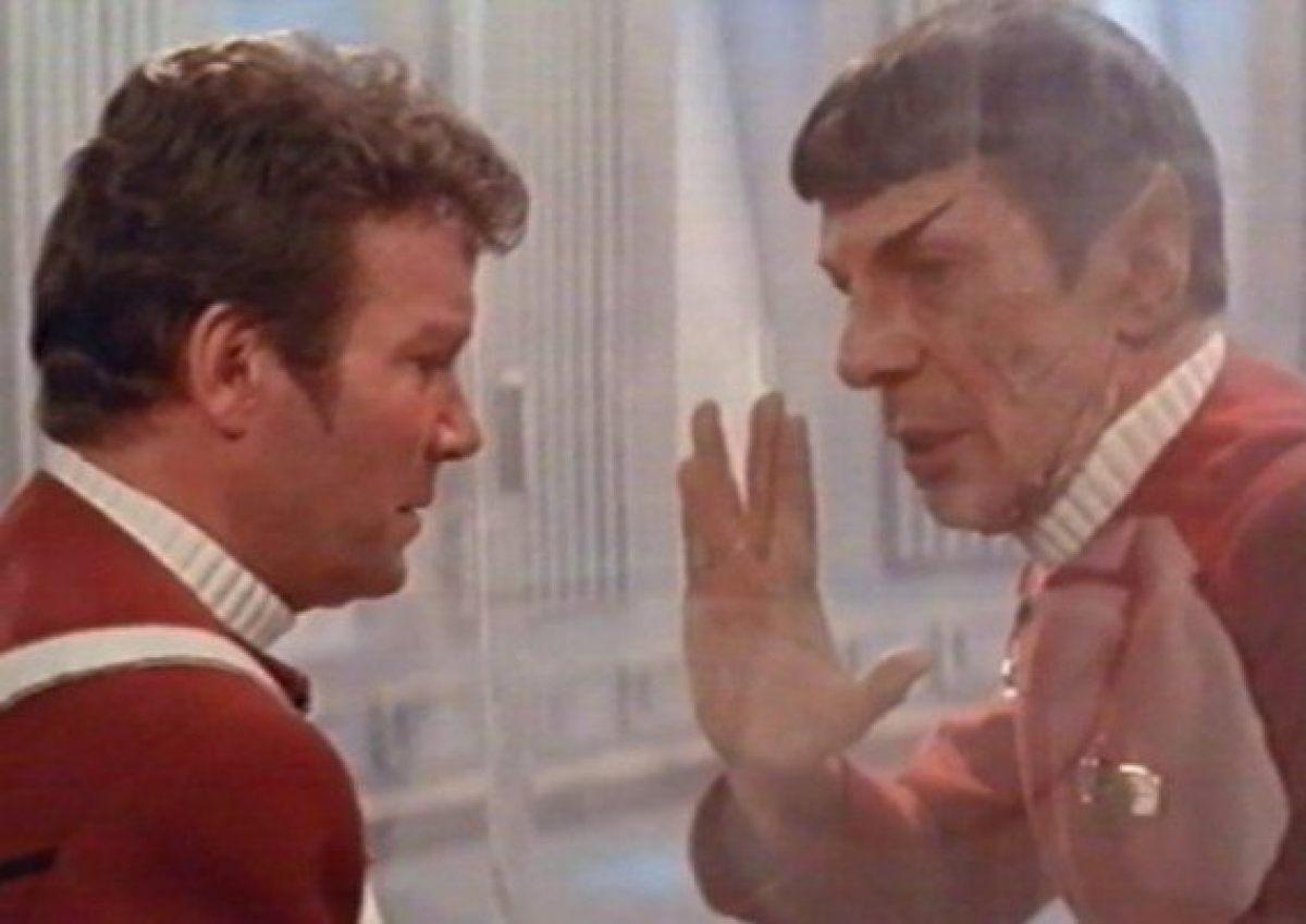 Star Trek II: L'ira di Khan - William Shatner e Leonard Nimoy in un momento del film