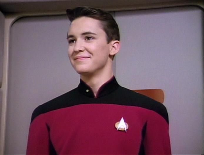 Wil Wheaton in una scena della serie tv di Star Trek