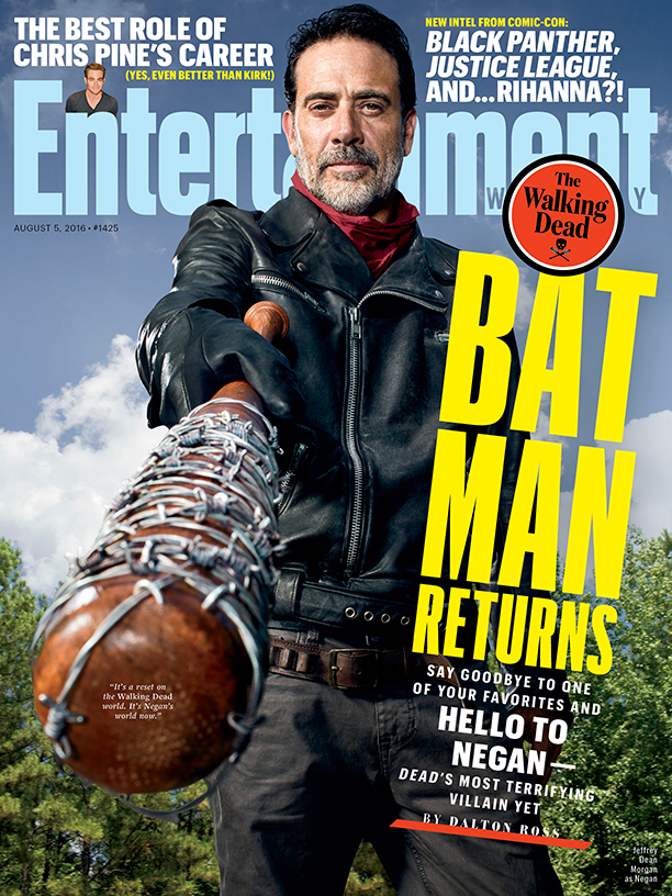 The Walking Dead: Jeffrey Dean Morgan in versione Negan in copertina su EW