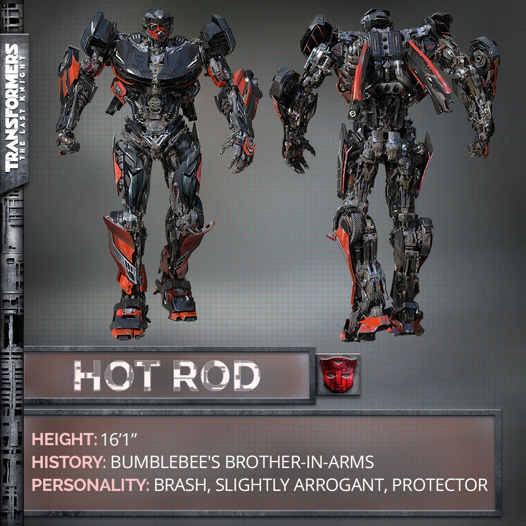 Transformers: The Last Knight - le caratteristiche di Hot Rod