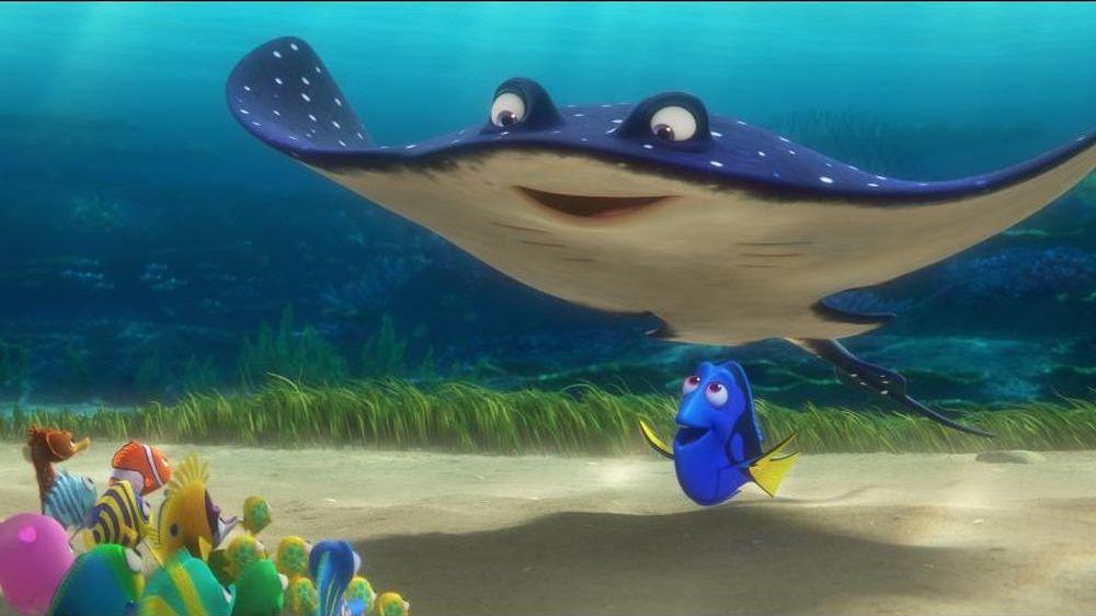 Alla ricerca di Dory: un momento del film animato