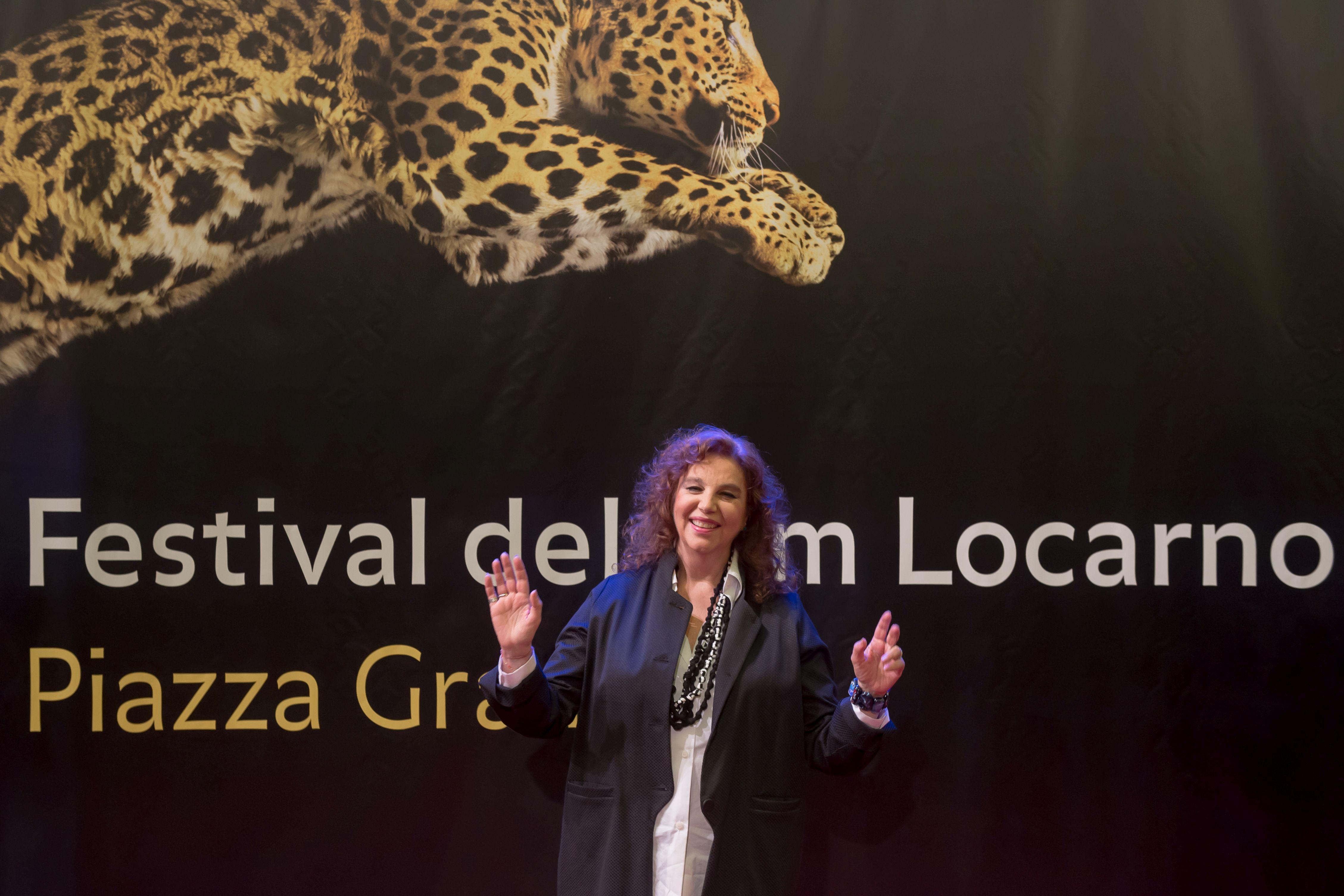 Una sorridente Stefania Sandrelli a Locarno 2016