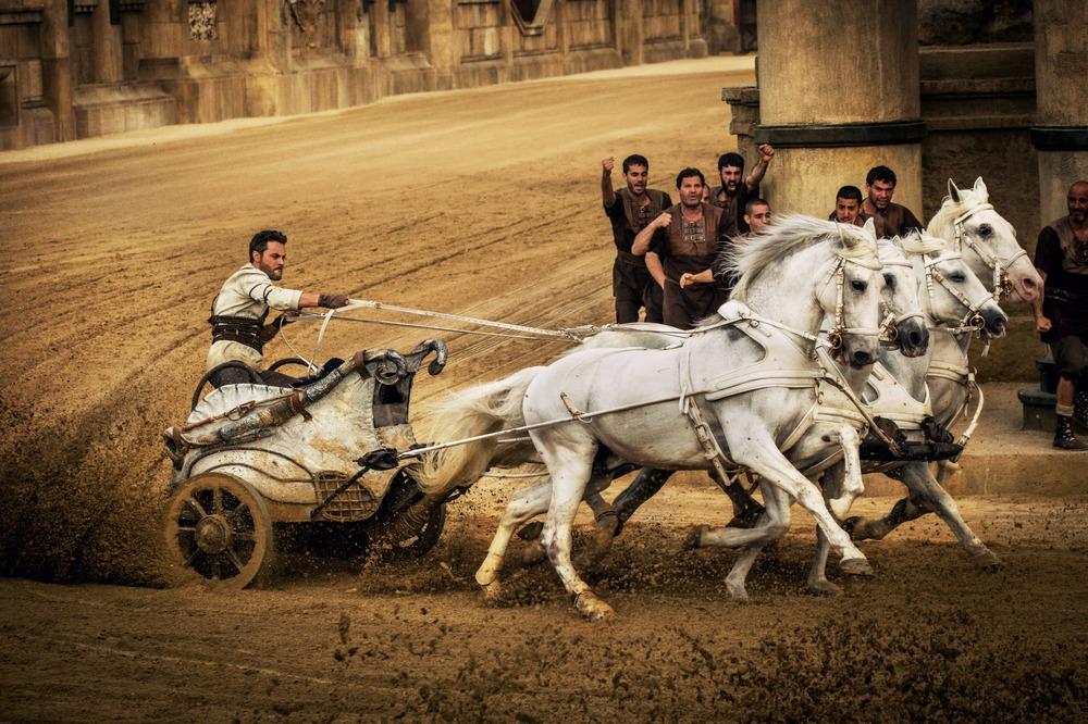 Ben-Hur: una scena d'azione del film con protagonista Jack Huston