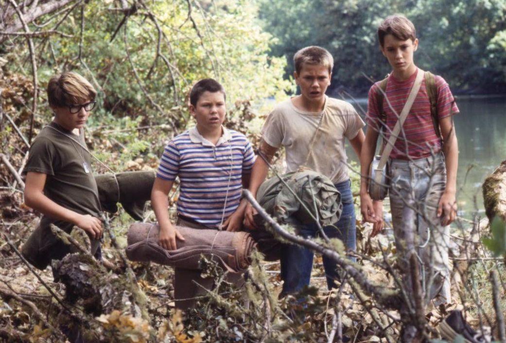 Stand By Me, una scena con i quattro giovani protagonisti